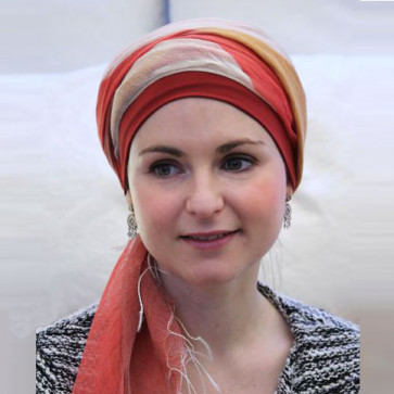 Foulard chimio Sophia Rouge et Orange - Look Hat Me
