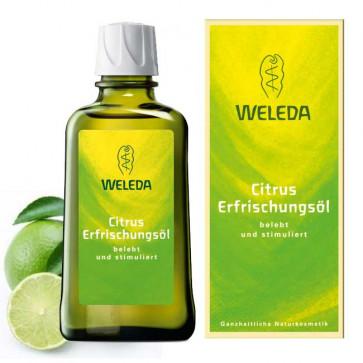 Huile de massage vivifiante au citrus - WELEDA