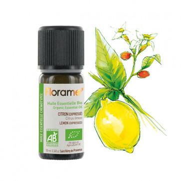 Huile Essentielle Bio Citron FLORAME - 10 ml