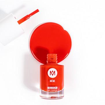 Vernis au silicium Orange Sanguine - MêMe Cosmetics