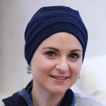 Bonnet chimio Sasha Bleu Marine - Look Hat Me