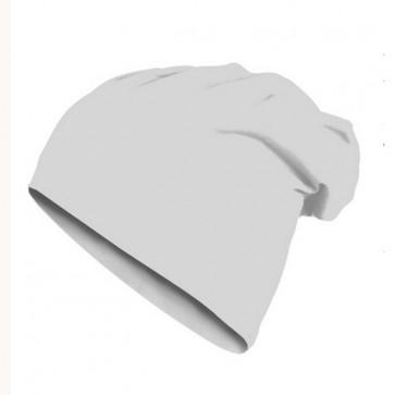 Bonnet homme Beanie en coton - Masterdis- blanc