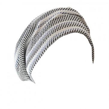 Turban Maya Blanc motifs lignes - Look Hat Me