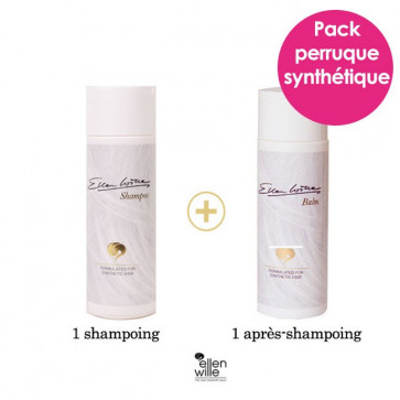 Pack soin perruque synthétique : 1 shampoing + 1 après-shampoing - Ellen Wille