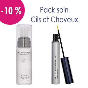 Pack soin après chimio pour cils et cheveux : 1 Mousse Volumisante Hair by Revitalash et 1 Revitalash advanced