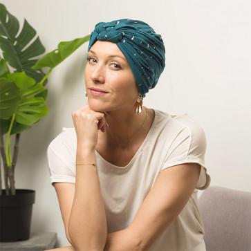 Turban Sonia turquoise - Comptoir de Vie