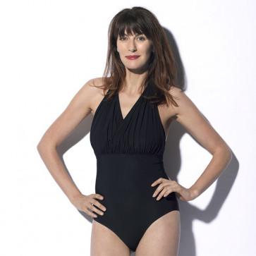 Maillot de bain une pièce pour prothèse mammaire noir - Tess - Marli Paris