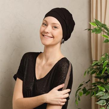 Turban bambou Tulipe noir Comptoir de Vie