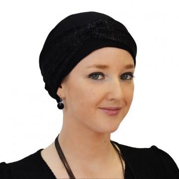 Turban bonnet Anaëlle noir - Comptoir de Vie