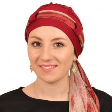 Turban Maya rouge - Comptoir de Vie