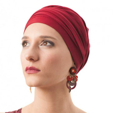 Turban bambou Diana bordeaux - MM Paris