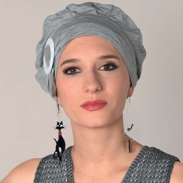 Turban chimio Jules gris clair - MM Paris