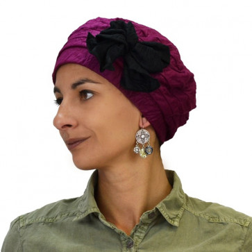 Turban Julia bambou prune - MTM