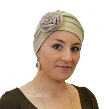 Turban Lady en coton Beige - Rosalie Rose