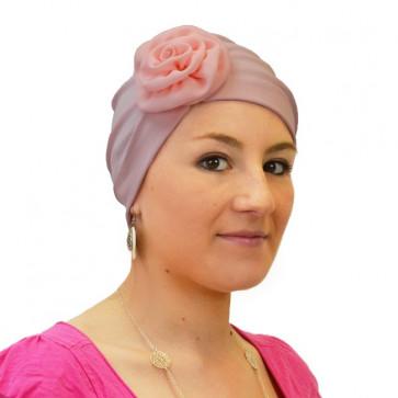 Turban Lady en coton rose - Rosalie Rose