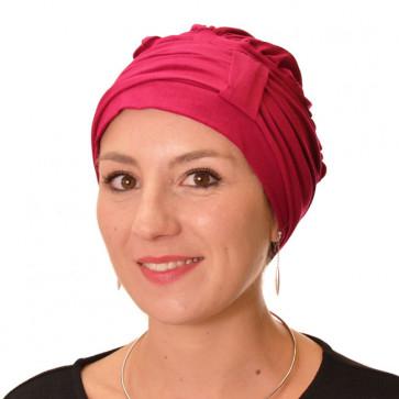 Turban Lys rouge uni - Comptoir de Vie