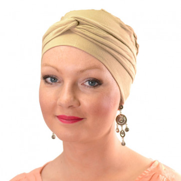 Turban jersey Madrid Beige