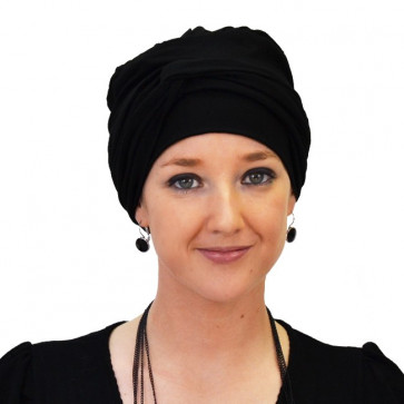 Turban jersey Madrid Noir