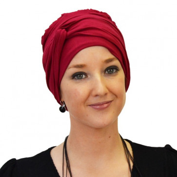 Turban jersey Madrid rouge