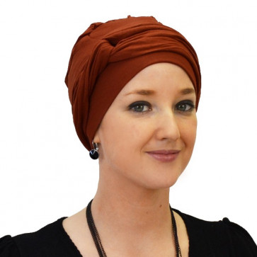 Turban jersey Madrid Rouille