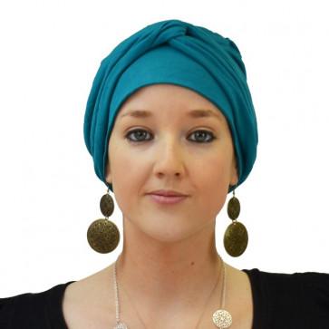 Turban jersey Madrid turquoise