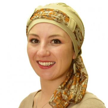 Turban Maya beige - Comptoir de Vie