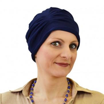 Turban MINA plissé bleu marine - Céline ROBERT