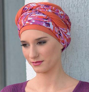 Foulard préformé Nadia orange - MM Paris