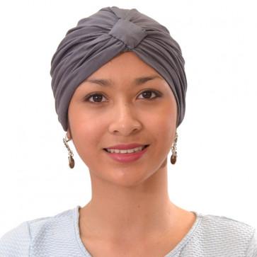 Turban Sarah drapé en coton Taupe - Mc Burn