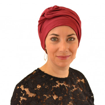 Turban Adèle bordeaux - MM Paris