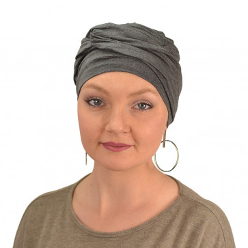 Turban Adèle gris chiné - MM Paris