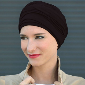 Turban Bambou Diana noir - MM Paris