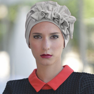 Turban Océane gris chiné clair - MM Paris