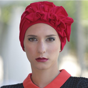 Turban Océane rouge - MM Paris