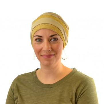 Turban Sandra pailleté-Beige