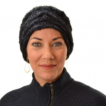 Turban Sirène noir-bleu