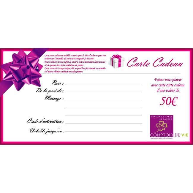 Carte Cadeau Wow.Carte Cadeau Comptoir De Vie 50