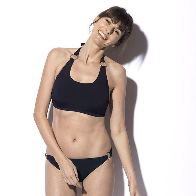 Maillot de bain deux pièces pour prothèse mammaire Roxanne Noir Marli Paris