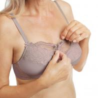 Soutien-gorge pour prothèse Be Amazing SB taupe/rose sans armatures - Amoena