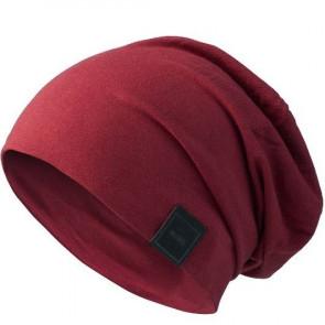 Bonnet Jersey sans couture pour homme - Rouge foncé