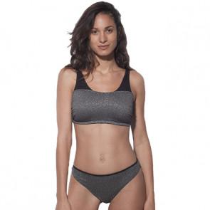 Maillot de bain deux pièce pour prothèse mammaire - Maya gris - Marli Paris