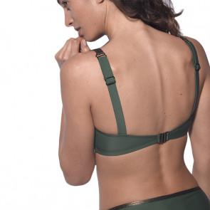 Maillot de bain deux pièces pour prothèse mammaire - Maya Vert - Marli Paris