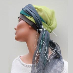 Foulard chimio Sophia vert - Look Hat Me