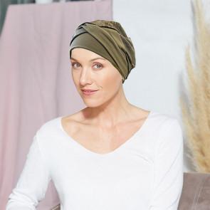 Turban pour femme Austin Kaki - Comptoir de Vie