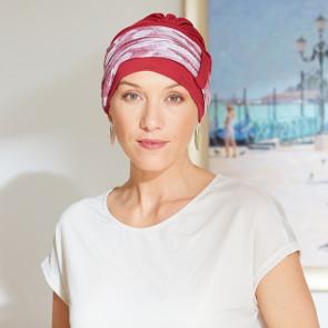Turban pour femme Lys rouge - Comptoir de Vie