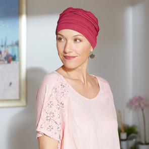 Turban chimio Dakota rouge - Comptoir de Vie