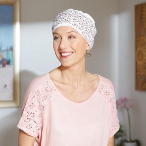 Turban pour femme Austin blanc - Comptoir de Vie