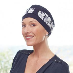 Turban femme Lys noir - bandeau arabesque - Comptoir de Vie