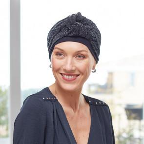 Turban pour femme Palma noir brillant - Comptoir de Vie