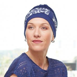 Turban chimio Lys bleu - bandeau Inca - Comptoir de Vie